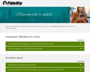 Fidelity El bienestar y usted