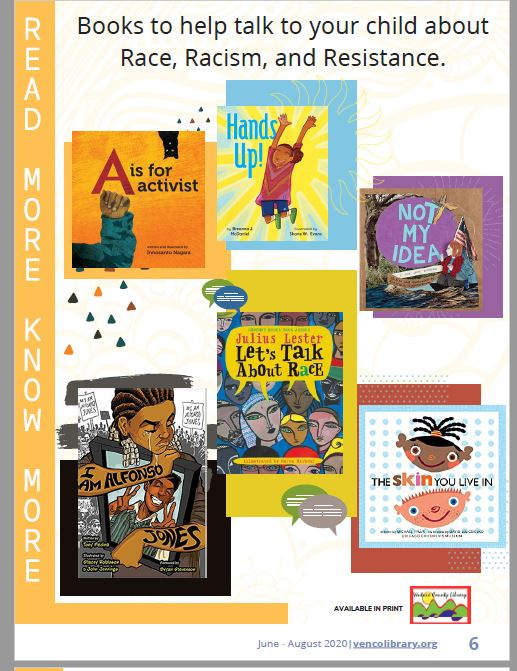 Books to help talk to your child about Race, Racism, and Resistance