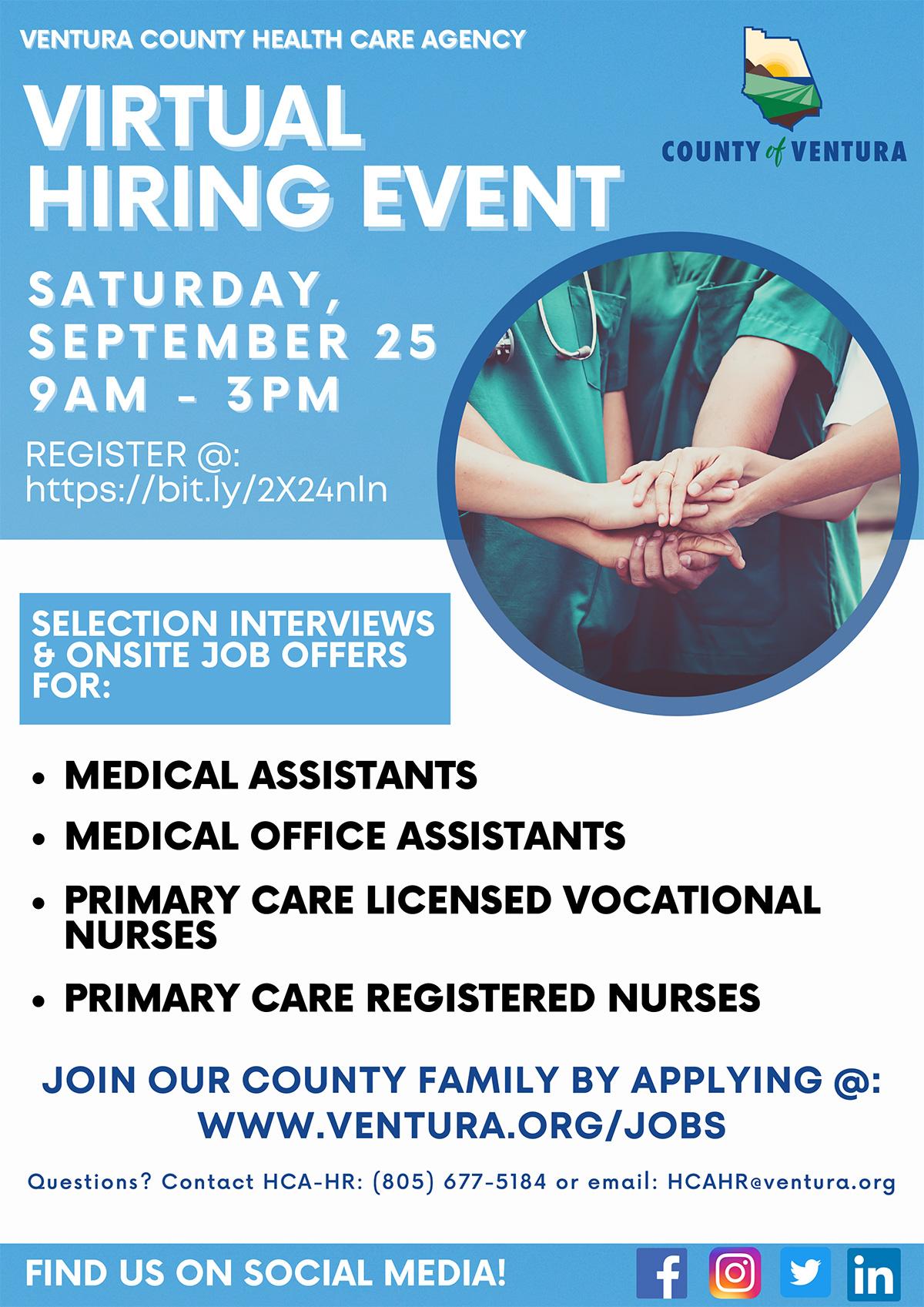 HCA Hiring Event